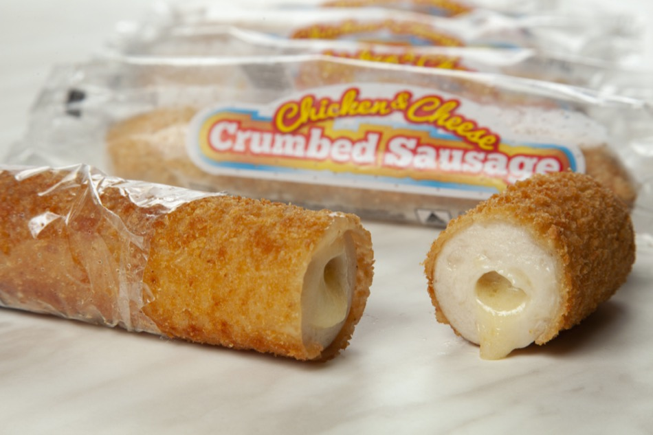 Heat n Serve Crumbed Chicken & Cheese Sausages [wrapped]