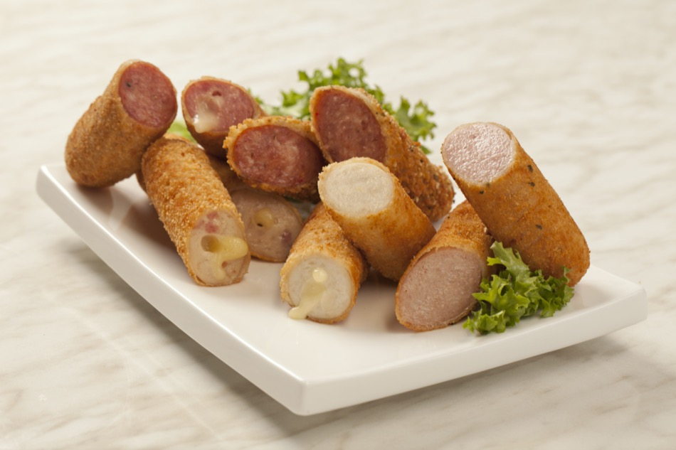 A selection of Crumbed Sausages